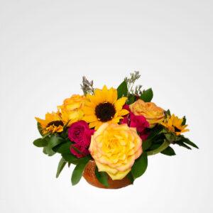 arreglo de flores girasoles