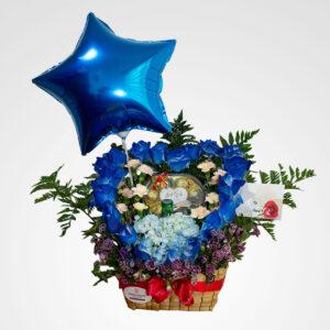 arreglo de flores corazon mio cervezas y globos floreria bogota