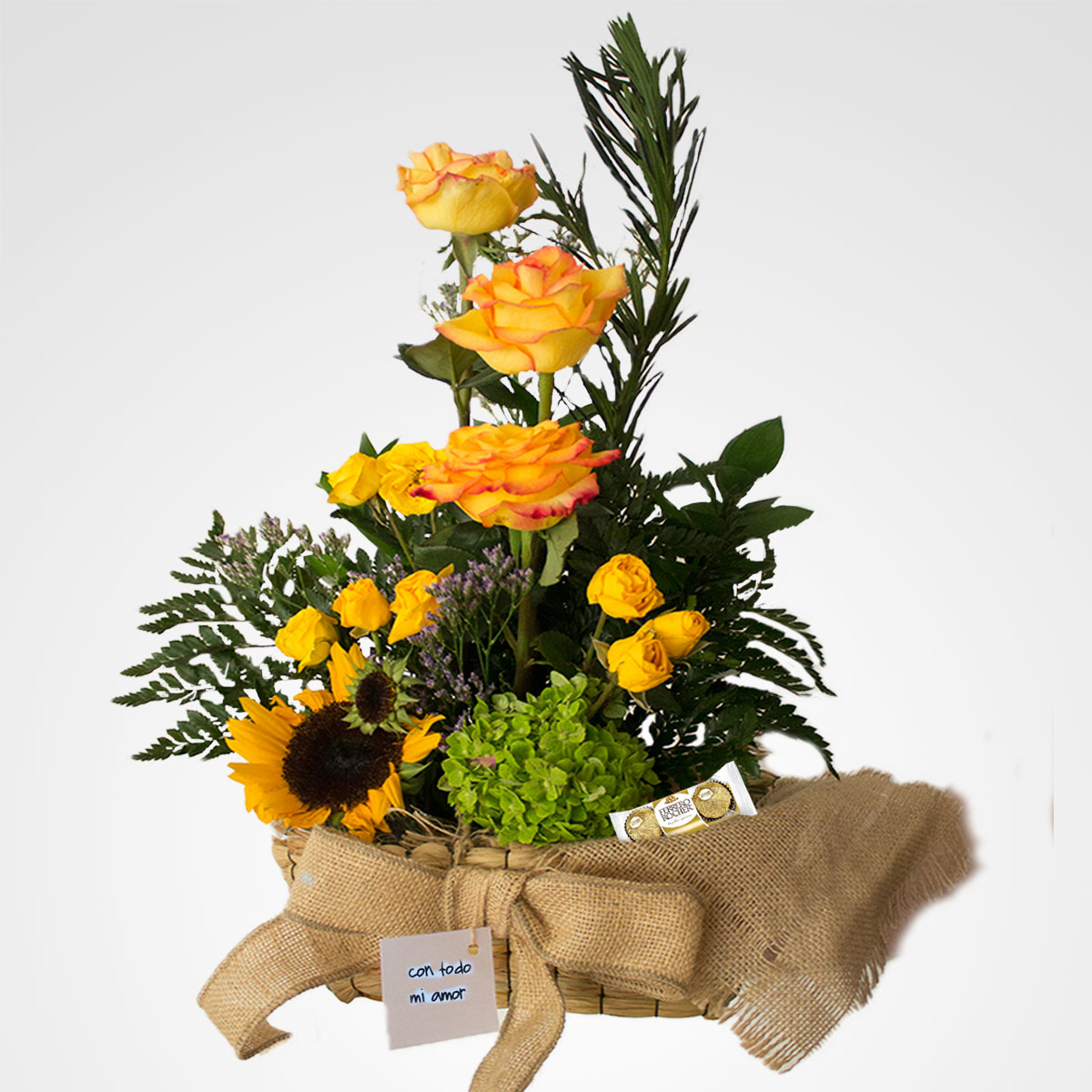 arreglo de rosas amarilla floreria bogota