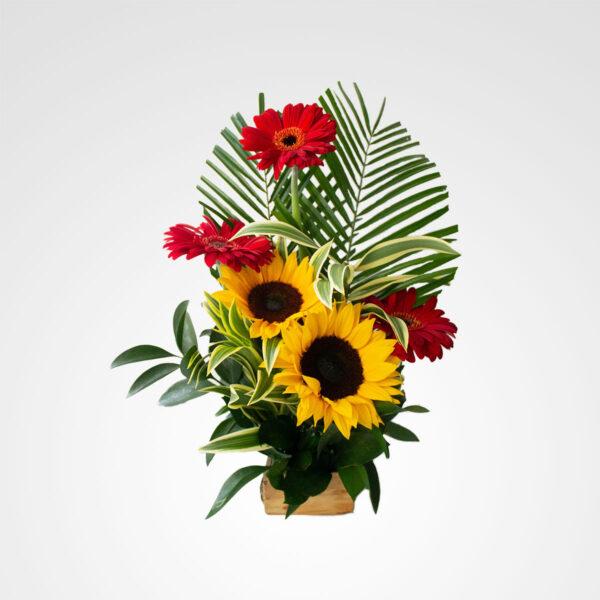 arreglo girasoles y gerberas floreria bogota