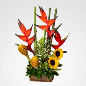 arreglo heliconias praiso tropical floreria bogota
