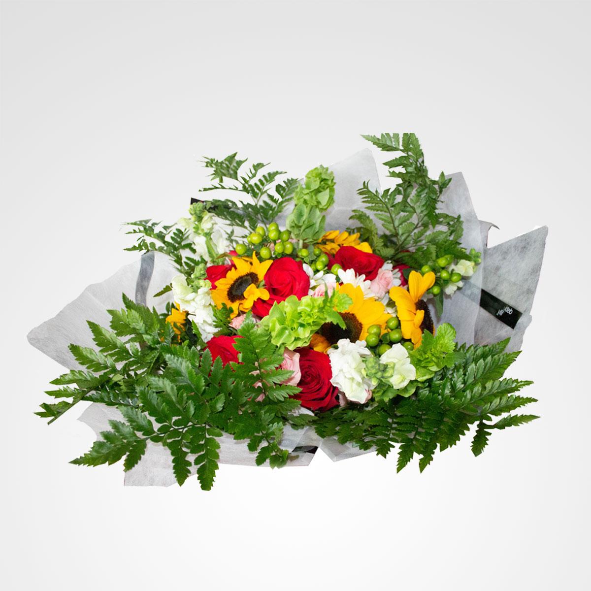 ramo de flores selva tropical floreria bogota