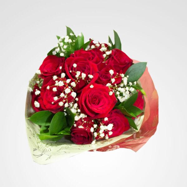ramo de rosas rojas pasion en rosa floreria bogota