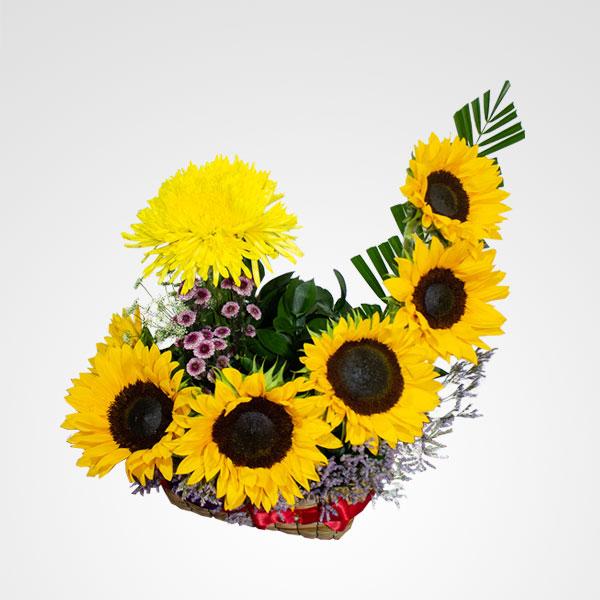 arreglo de girasoles flores campestres floreria bogota