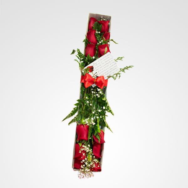 caja de rosas adoracion floreria bogota