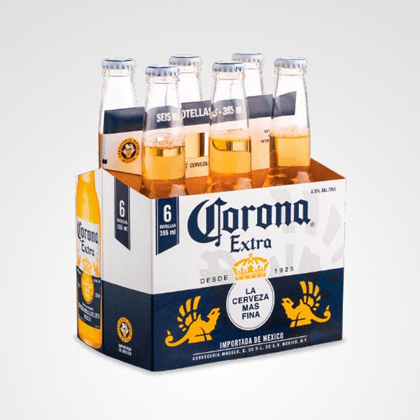 cerveza corona six pack floreria bogota