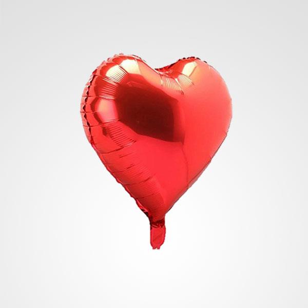 globo corazon rojo floristeria bogota