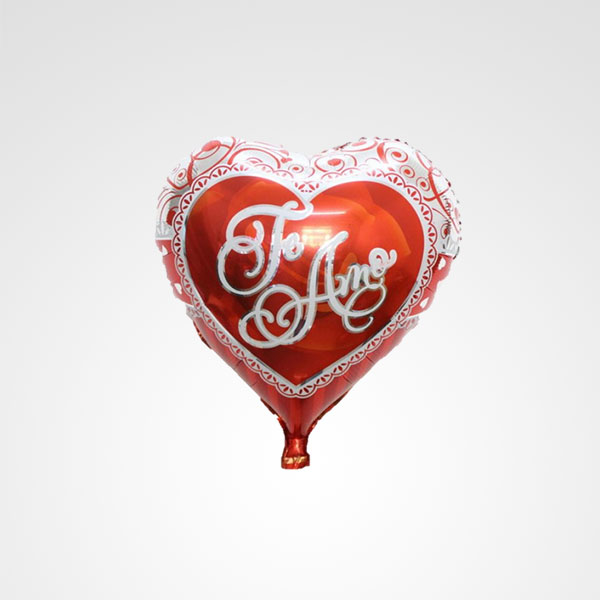globo metalizado corazon te amo floreria bogota