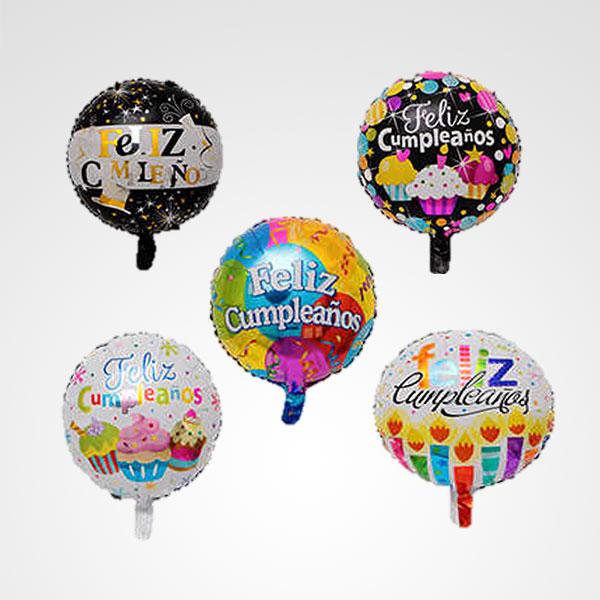 globo metalizado feliz cumpleaños floreria bogota
