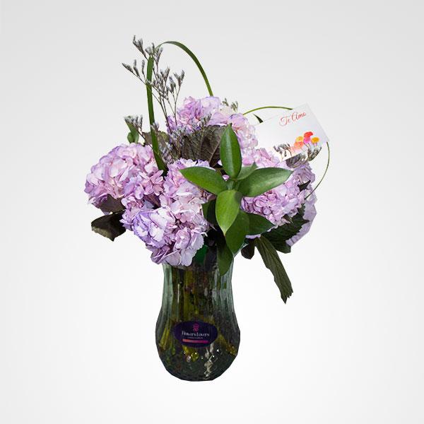 arreglo florero hortensias floreria bogota