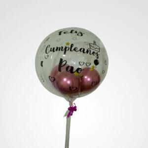 globo transparente personalizado feliz cumpleaños