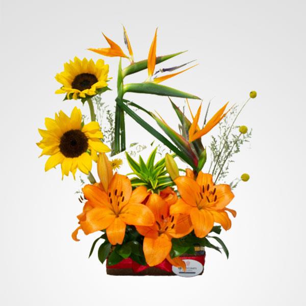 arreglo de flores dinastia aves del paraiso lirios floreria bogota