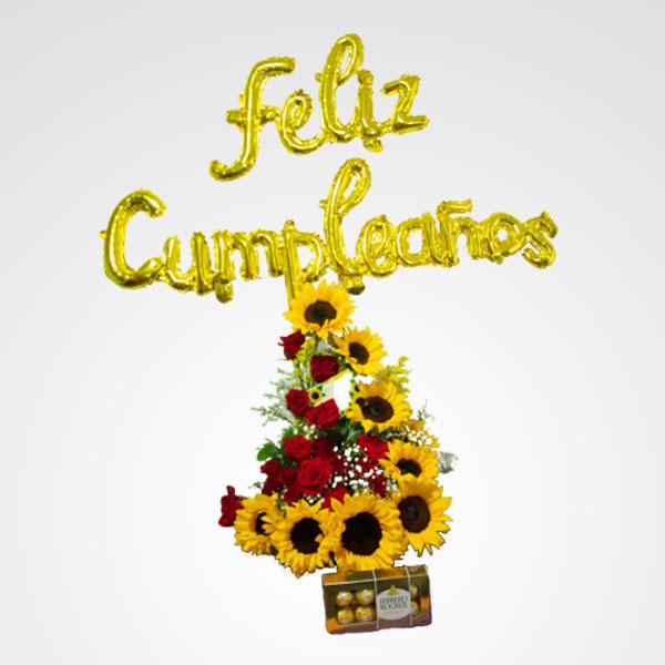 rosas girasoles combo tropical love floreria bogota
