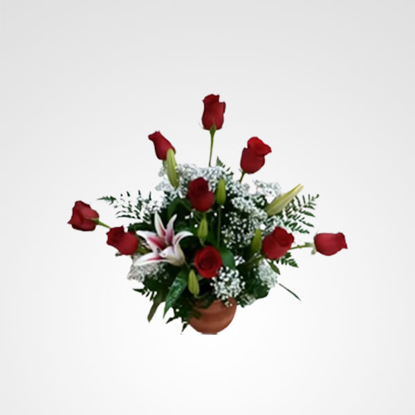 arreglo de rosas rojas floristeria bogota