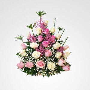 arreglo grande de rosas majestad floreria bogota