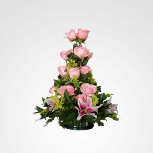 arreglo de rosas y lirios floristeria bogota